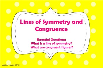 Symmetry and Congruence Smartboard Lesson