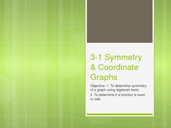 Symmetry and Coordinate Graphs