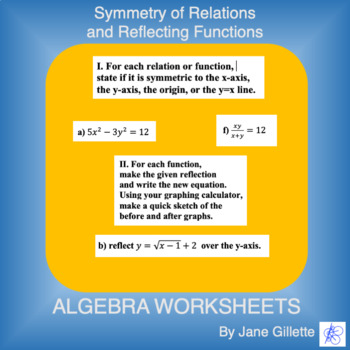 Symmetry of Relations, and Reflecting Functions