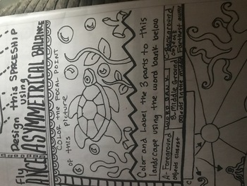 Drawing Lines Of Symmetry Free Worksheets : Symmetry emphasis and parts to a landscape worksheet by