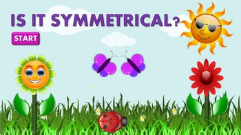 Symmetry exercises to learn and review symmetry skills; Kindergarten, 1st grade