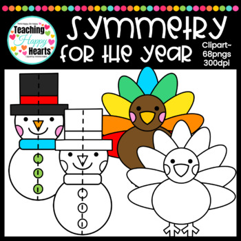 Symmetry for the Year Clipart