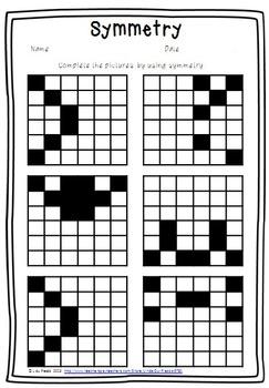 Symmetry {free worksheet}