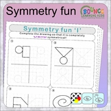 Symmetry fun (21 distance learning worksheets for Visual p