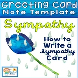How To Write A Sympathy Note Greeting Card Template