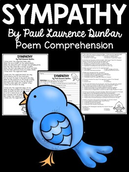 Sympathy by Paul Laurence Dunbar Poetry Comprehension Questions; Caged Bird