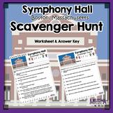 Symphony Hall, Boston Massachusetts  Field Trip Scavenger Hunt