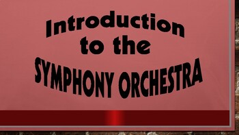 Symphony Orchestra PowerPoint