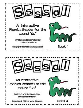 "Symple Readers Book 4: ""Sssal"" Phonics Reader"
