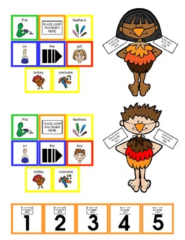 """Symple Reader's Week 10: Math: Counting and Numbers: """"Turkey Costumes"""""""