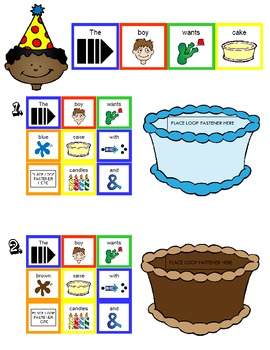 Symple Readers Week 11: Birthday Cake.  Color Identification.