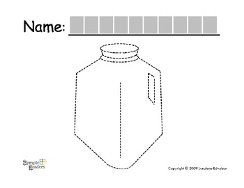 Symple Reader's Week 12: Tracing Worksheet: MILK