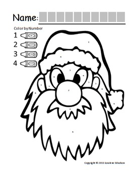"""Symple Reader's Week 13:  Color By Numbers """"Santa's Face"""""""