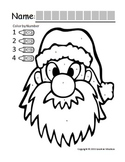"Symple Reader's Week 13:  Color By Numbers ""Santa's Face"""