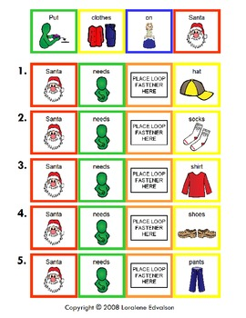 Symple Reader's Week 13: Put Clothes on Santa Math Numbers