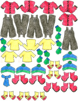 Symple Readers Week 15: Snow Clothes Number Recognition 1-10