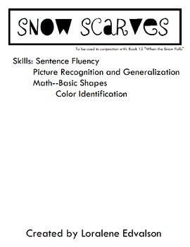 Symple Readers Week 15: Snow Scarves Color and Shape Activity