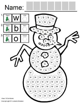 Symple Readers Week 16: Dot Marker. Snowman & Carrot