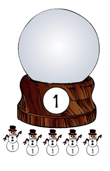 Symple Readers Week 16: Snowglobes Sort Group Math Activity
