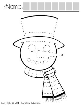 """Symple Readers Week 16: """"Snowman Face"""" Tracing Activity"""