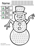 """Symple Readers: Week 16: """"Snowman and Carrot"""" Dot Marker"""