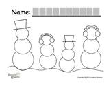 """Symple Readers Week 16: """"Snowmen"""" Tracing"""