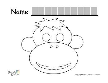 Symple Readers Week 17:  Monkey Tracing Activity
