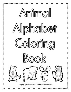 Symple Reader's Week 18: Animal Alphabet Coloring Book
