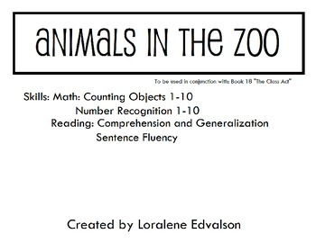 "Symple Reader's Week 18: ""Animals in the Zoo"" Counting Activity"