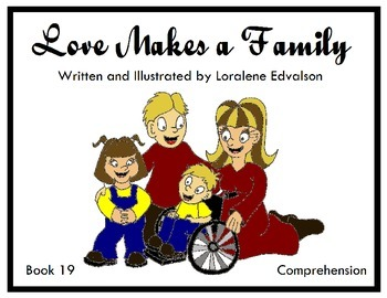 "Symple Reader's Week 19: ""Love Makes a Family"" Comprehension Book"