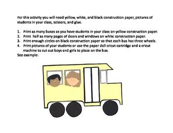 Symple Reader's Week 2: Bus Art Activity