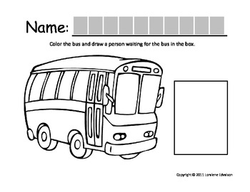 """Symple Reader's Week 2: """"Bus"""" Color and Draw Activity"""