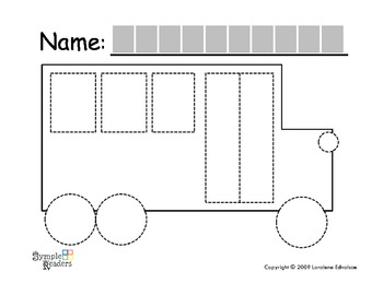 "Symple Reader's Week 2: ""Bus and Car"" Tracing Activity"