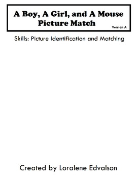 Symple Readers Week 4:  Picture Match