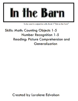 Symple Readers Week 5: In the Barn.  Counting