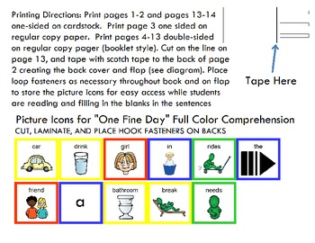 "Symple Reader's Week 6: ""One Fine Day"" Comprehension Book"