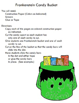 Symple Reader's Week 7: Art Project: Monster Candy Bucket