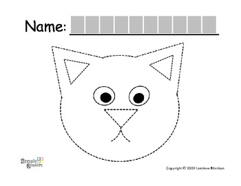 "Symple Reader's Week 7: Fine Motor: Tracing: ""Frog and Cat"""