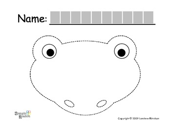 """Symple Reader's Week 7: Fine Motor: Tracing: """"Frog and Cat"""""""