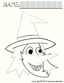 Symple Reader's Week 7: Fine Motor: Tracing Lines: Witch