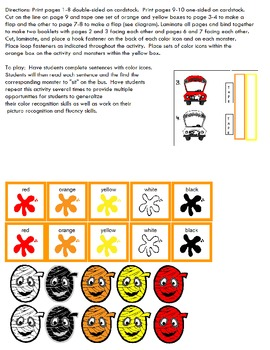 Symple Reader's Week 7: Math: Colors: The Ghoul Bus