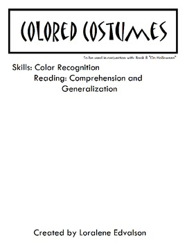 Symple Readers Week 8: Colored Costumes.