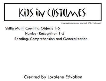 Symple Readers Week 8: Kids in Costume.  Number Recognition.