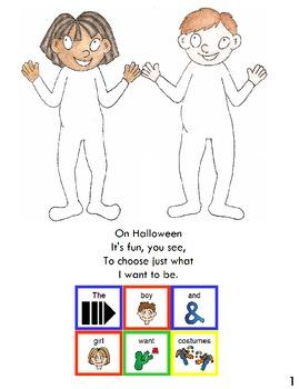 """Symple Readers Week 8: """"On Halloween"""" Picture Reader."""