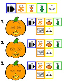 "Symple Readers Week 9: Color Recognition.  ""Pumpkin Eyes"""