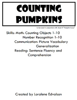 Symple Readers Week 9: Counting Pumpkins.  Objects 1-10