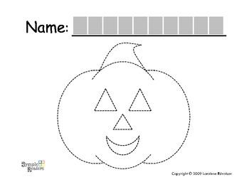 Symple Readers Week 9: Trace a Pumpkin