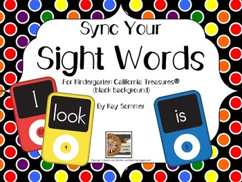 Sync Your Sight Words {black background}
