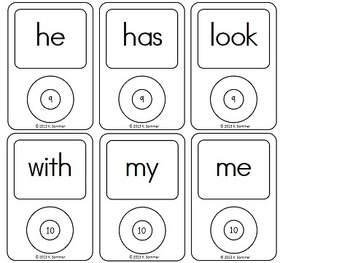 Sync Your Sight Words {white background}