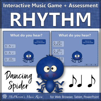 Syncopa - Dancing Spider {Interactive Music Game & Assessment} syncopation